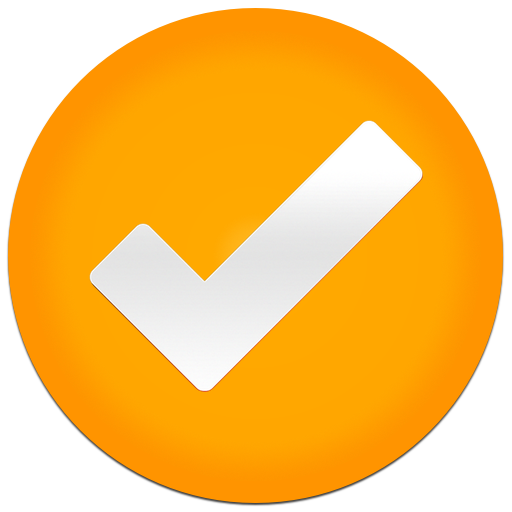 Orange Check Tick Icon image #14152