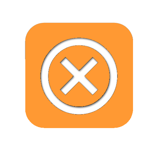 orange close button png
