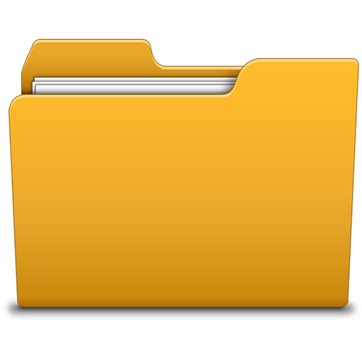 Orange Directory Icon Png image #12380