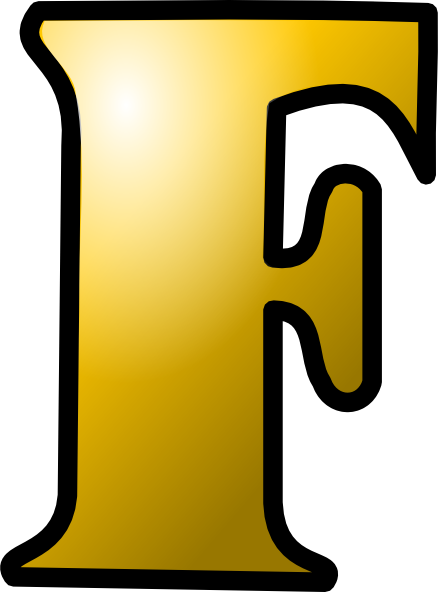 Orange Letter F Icon Png image #13265