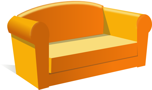 Orange Old Couch Png image #37472
