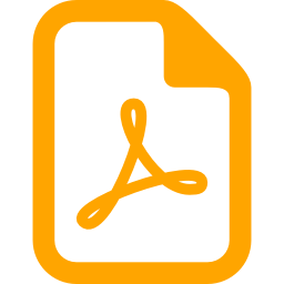 Orange Pdf Icon image #2083