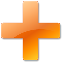 Orange Plus Icon image #13063