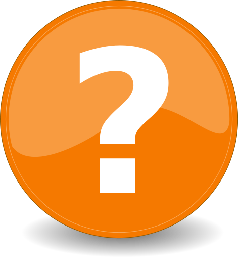 Orange Question Icon image #26801