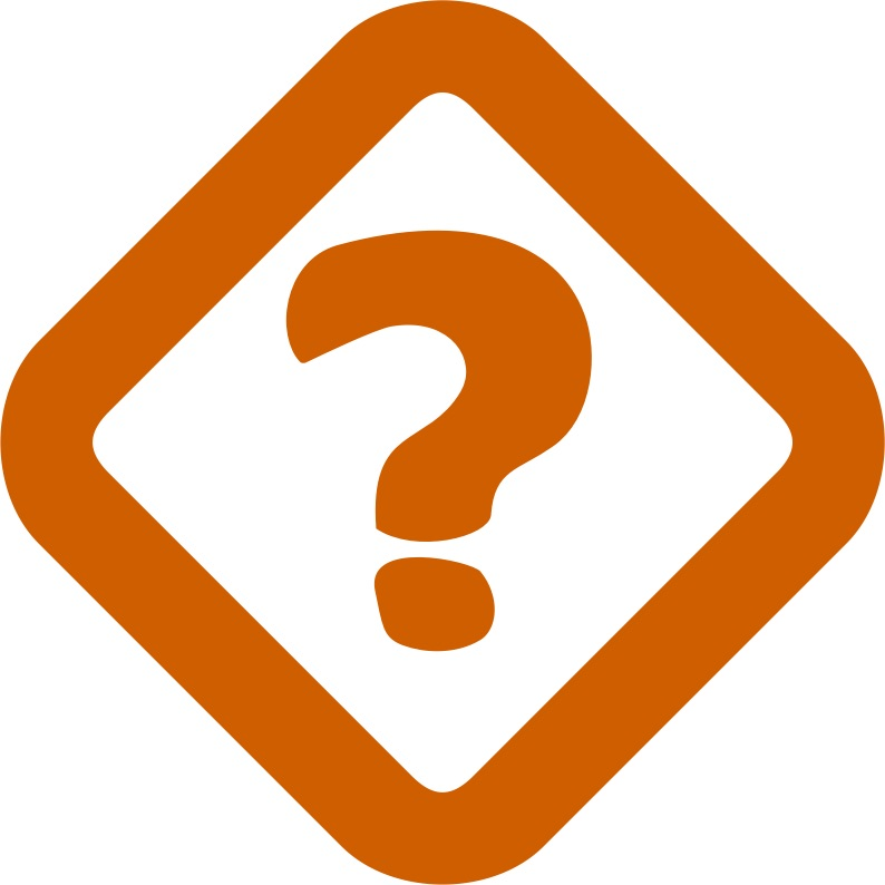 orange question mark symbol icon