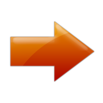Orange Right Arrow Icon image #7579