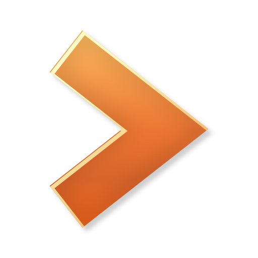 Orange Right Arrow Icon image #7585