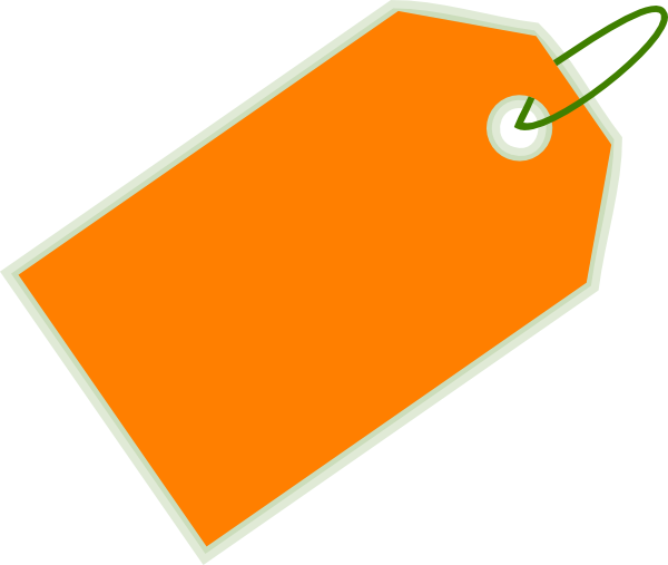 Orange Sale Blank Price Tag Png