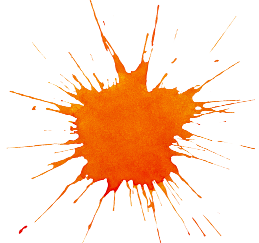 Orange Splat Png Image image #38301