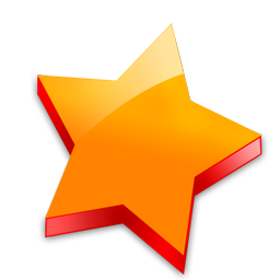 Orange Star Icon image #19137