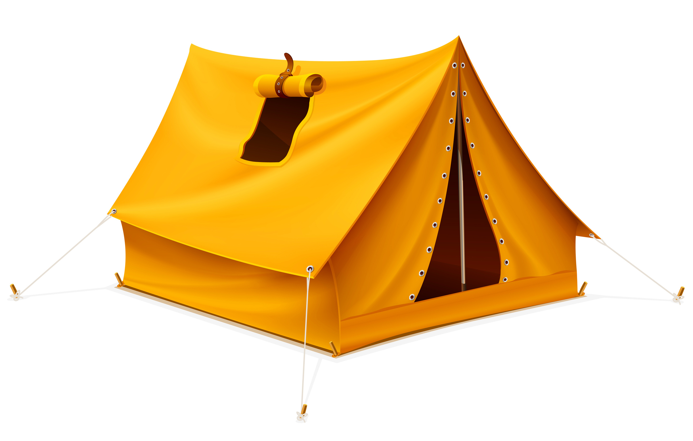 Orange Tent Png image #35658