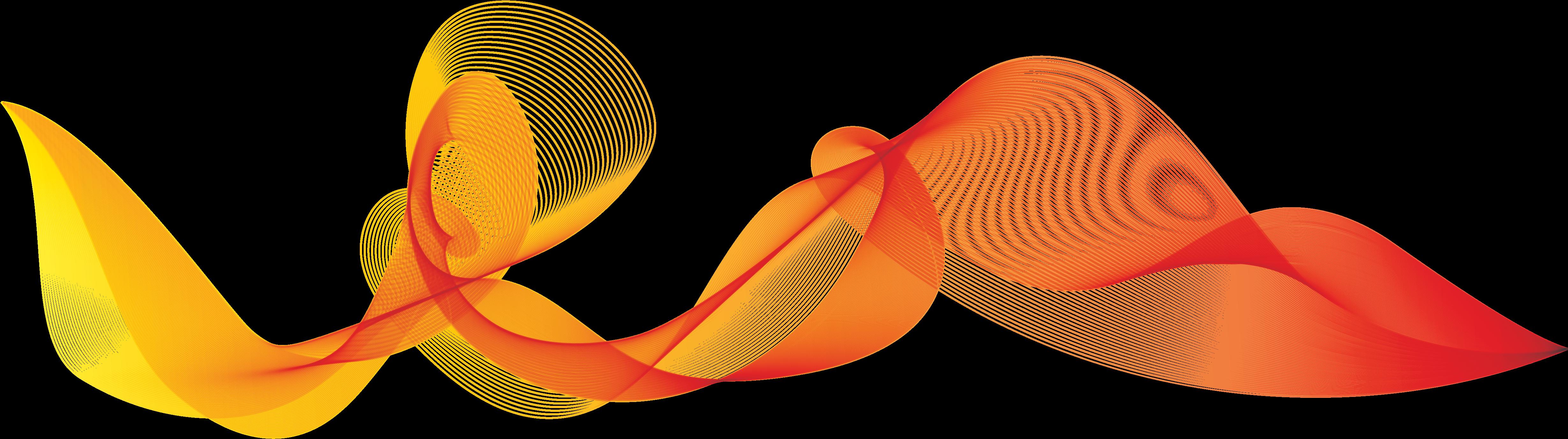 Orange Waves Png Clipart