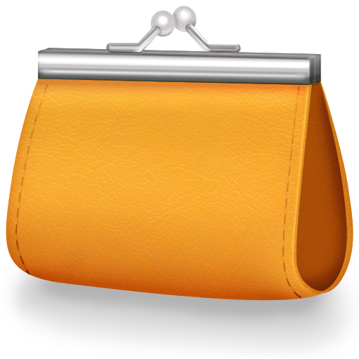 Orange Women Wallet Icon Png image #42802
