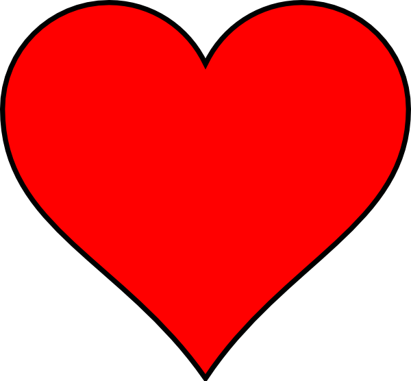 Outline Heart Png image #44631