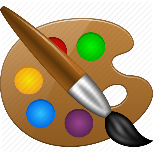 paint tools, paintbrush, painter, template icon