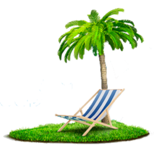 palm, chair, beach png