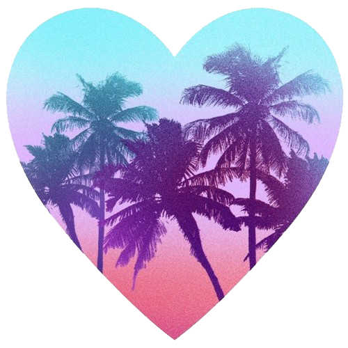 palm, tree, heart, summer png