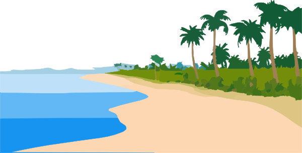 Palms, Beach, Sea, Sand Png image #41225