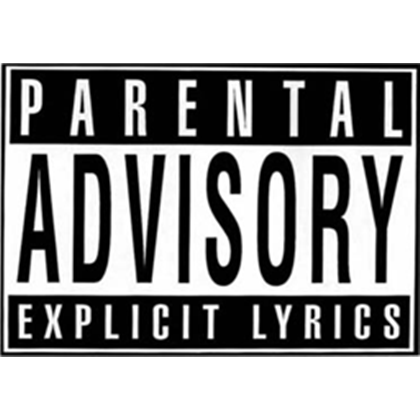 Parental Advisory Png White image #43533