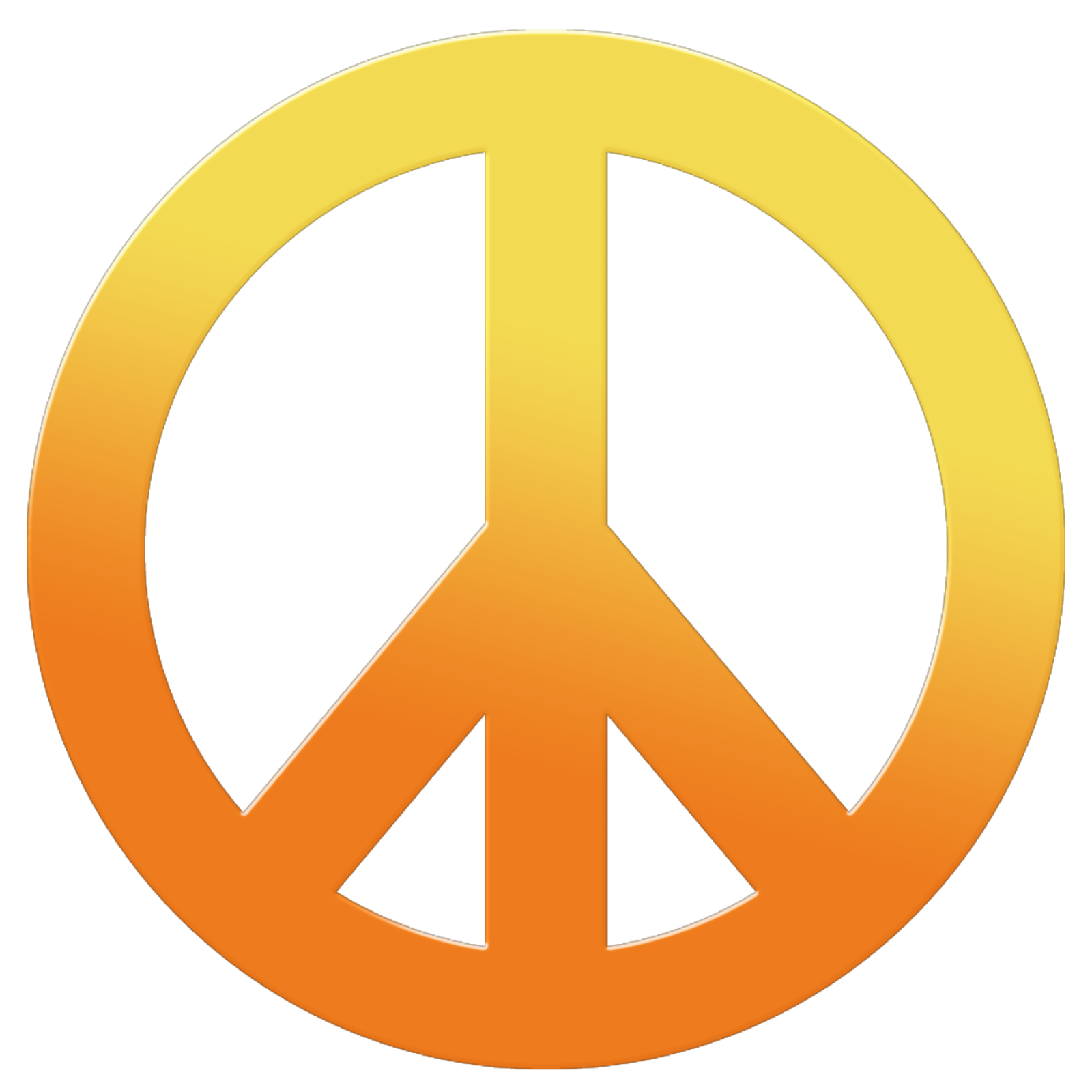 Peace Sign HD PNG image #19839