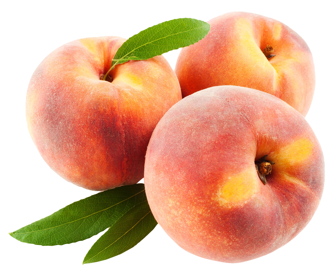 Peach Fruits with Leafs PNG image