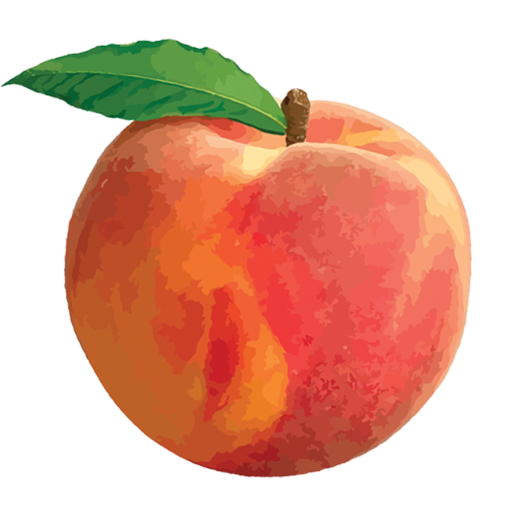 Peaches With Leaf Png image #41691