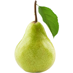 Pear Fruit With Leaf Png image #38691