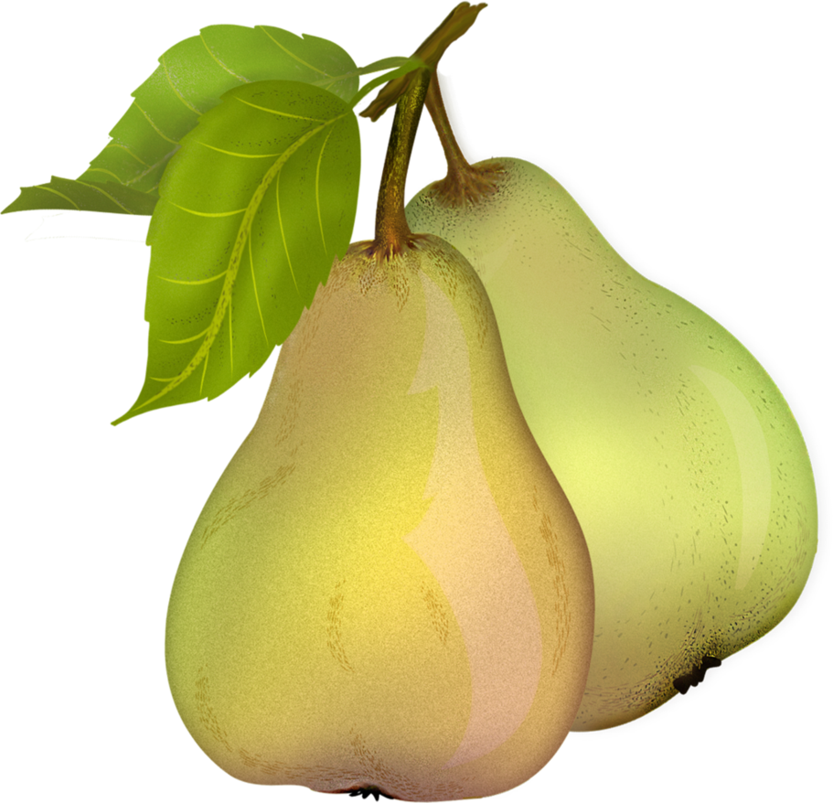 Pear Fruit With Leaf Png image #38692