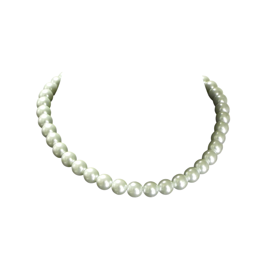 pearl necklace png silver