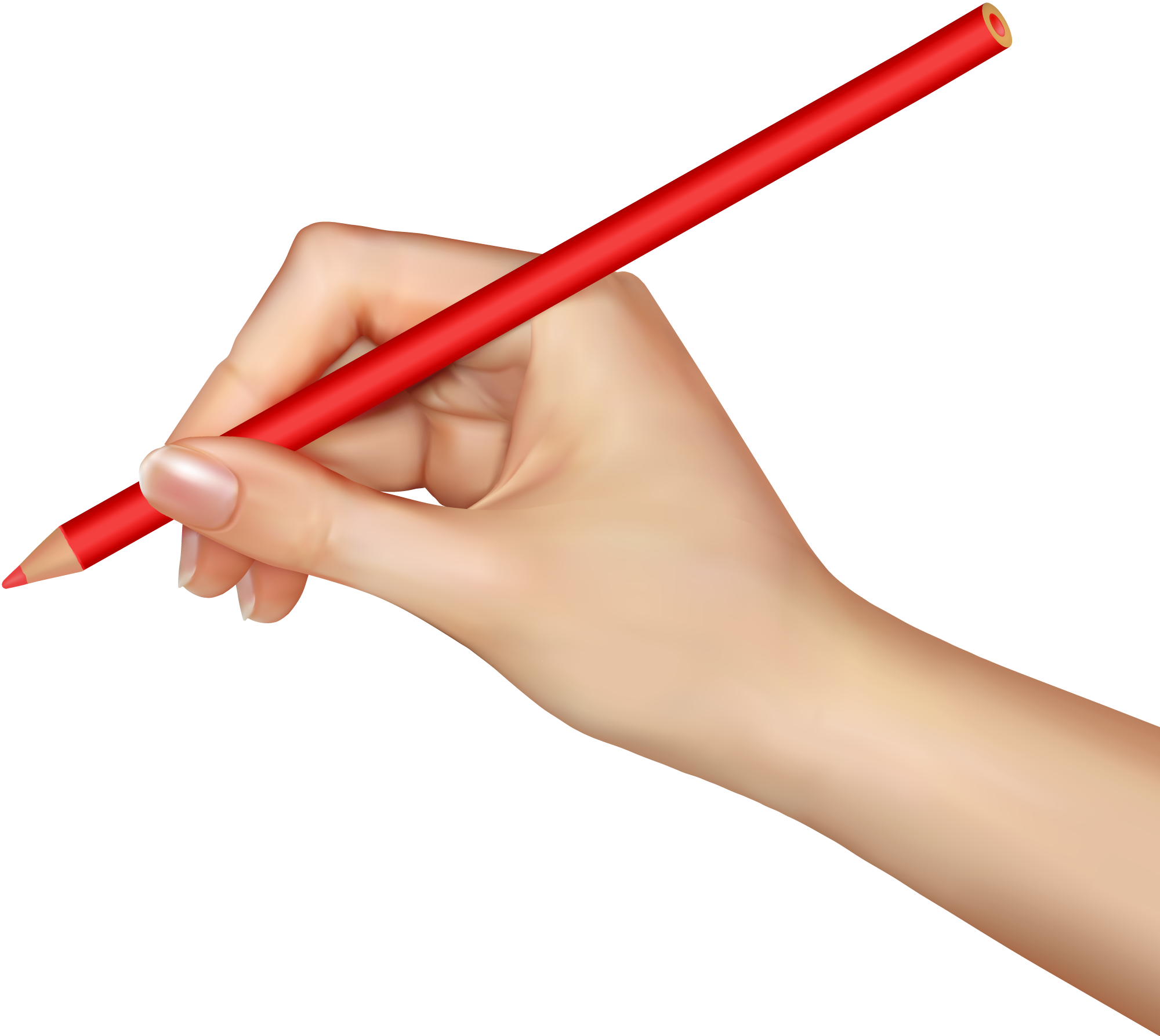 Pencil Red Hands Png image #44762