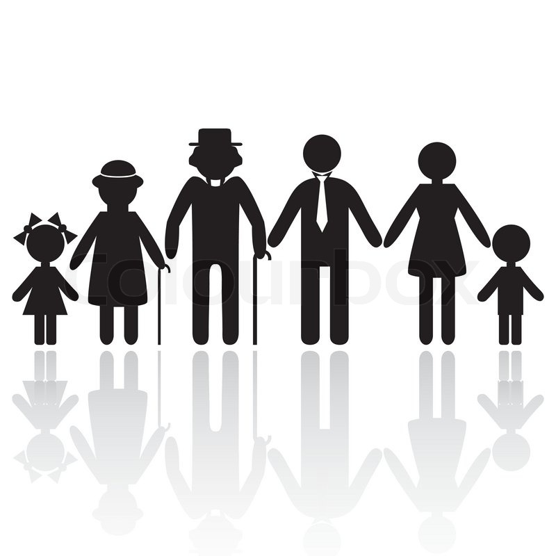 People Silhouette Family Icon  image #21342