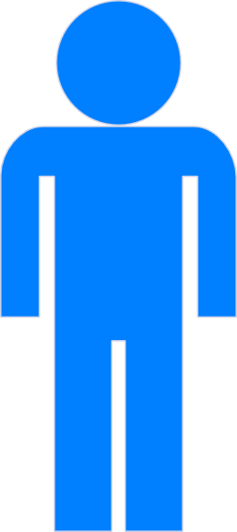 Icon Person Blue Symbol