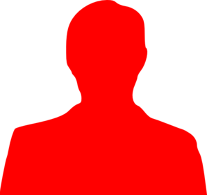 Icon Symbol Person  Red image #7544