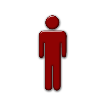 Symbol Person  Red Icon image #7525