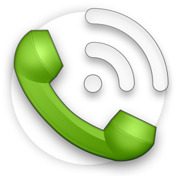 green Phone PNG circle with wifi icon
