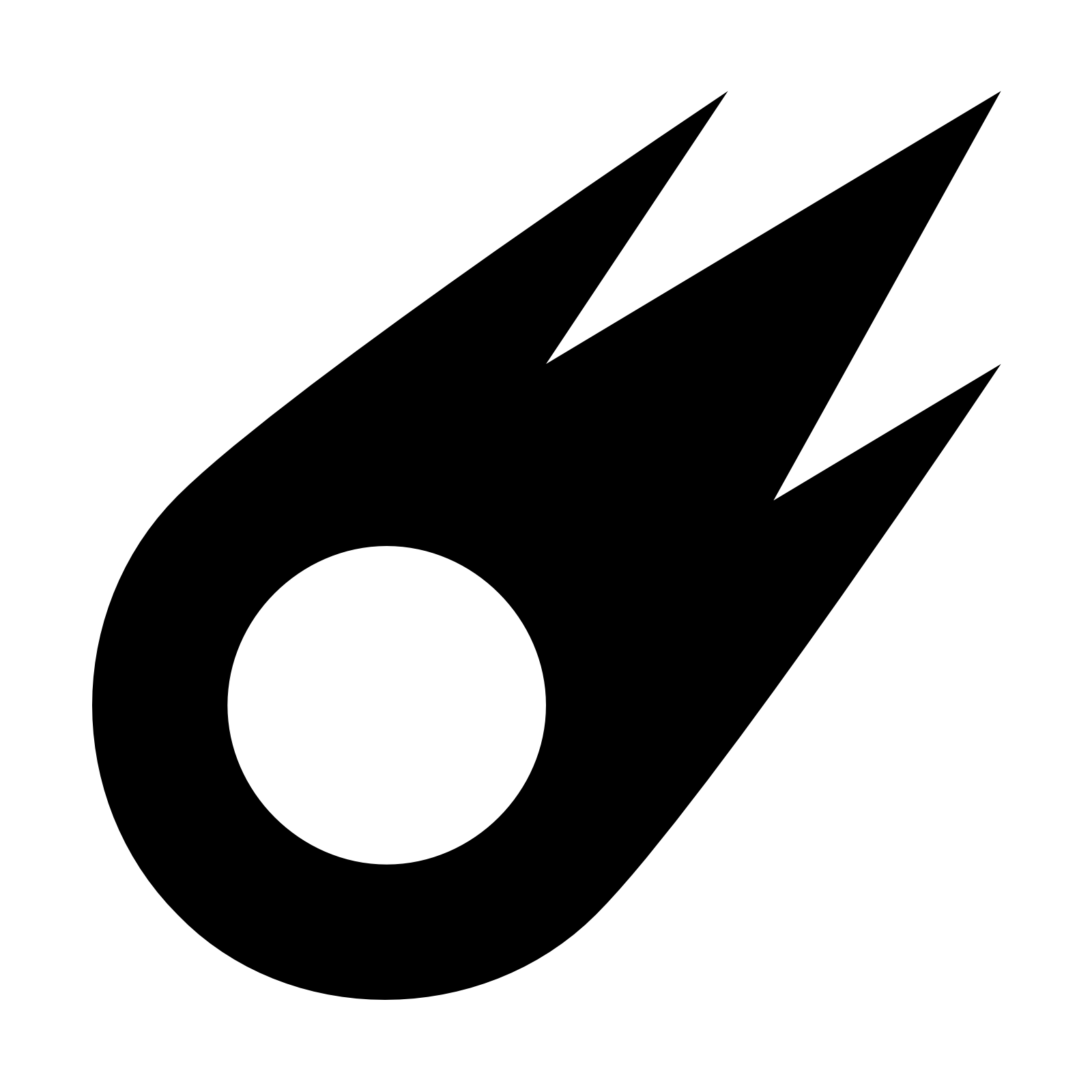 Photo Black Comet Symbol image #48529