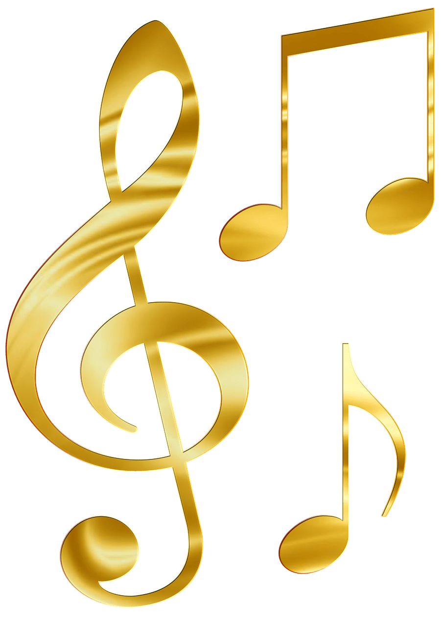 Photo Gold Music Note Transparent image #48343