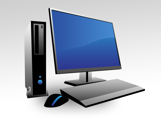Photoshop Graphics: Desktop computer icon