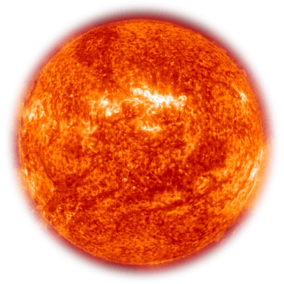 Picture Of Real Sun The Color Of Fire Red