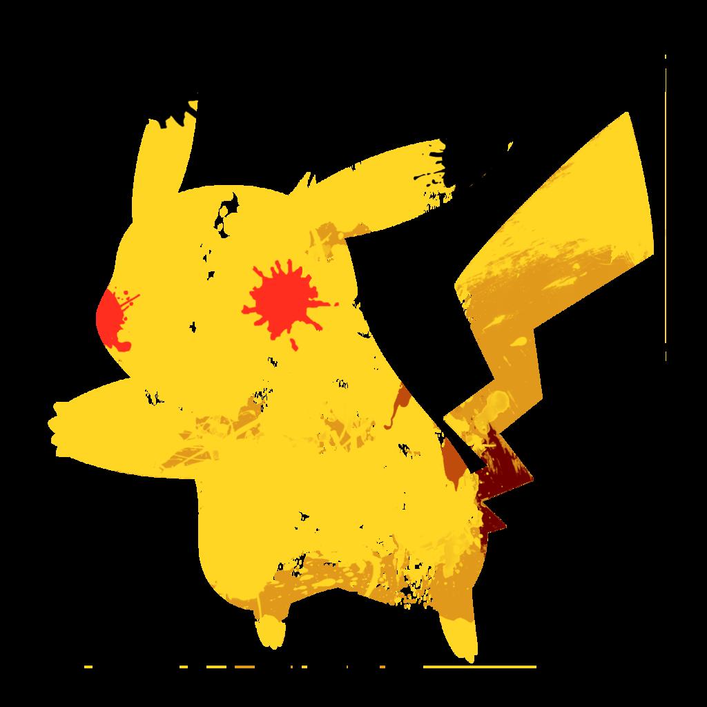 Pikachu Paint Splatter