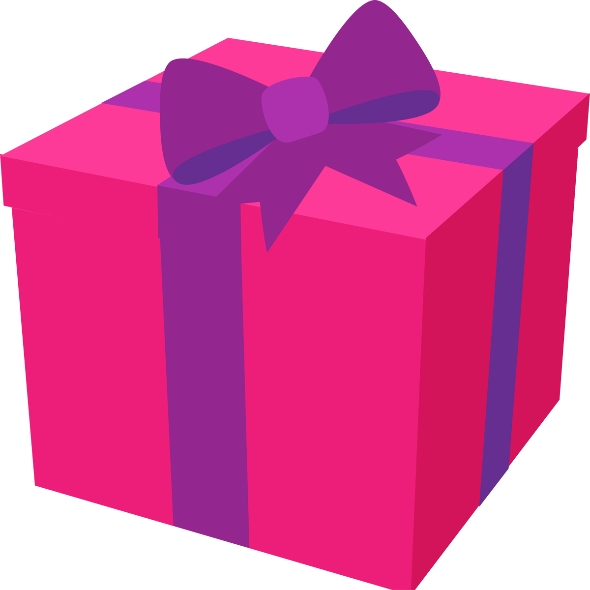 Pink Birthday Gift Png image #39924