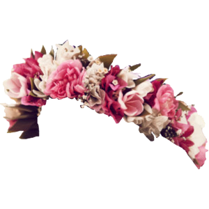 Pink Flowers Crown Png Images Transparent image #42592