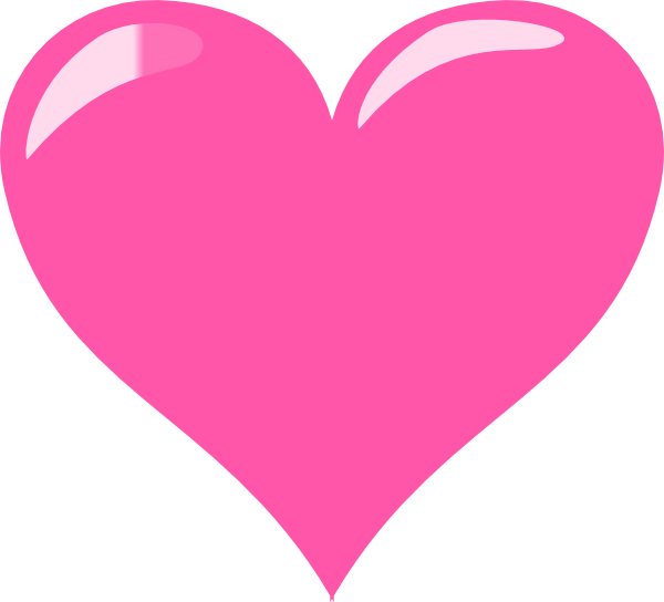 Pink Heart Glossy Png image #44627