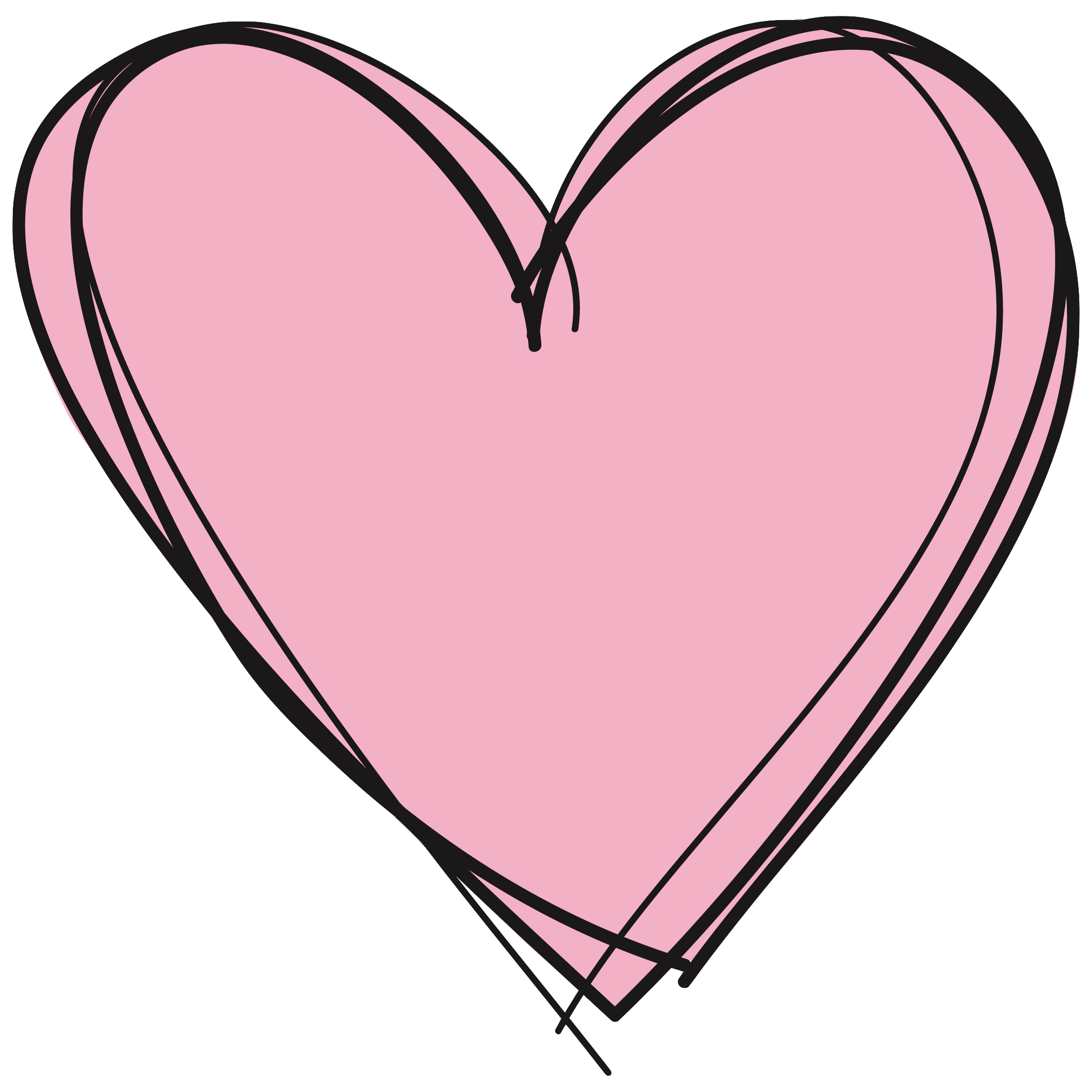 Pink Heart Png image #38777