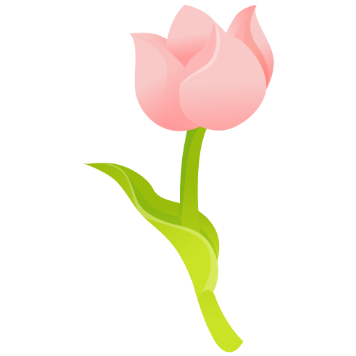 Pink Rose Flower Icon image #34262