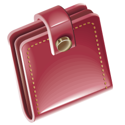 Pink Wallet Png image #42796