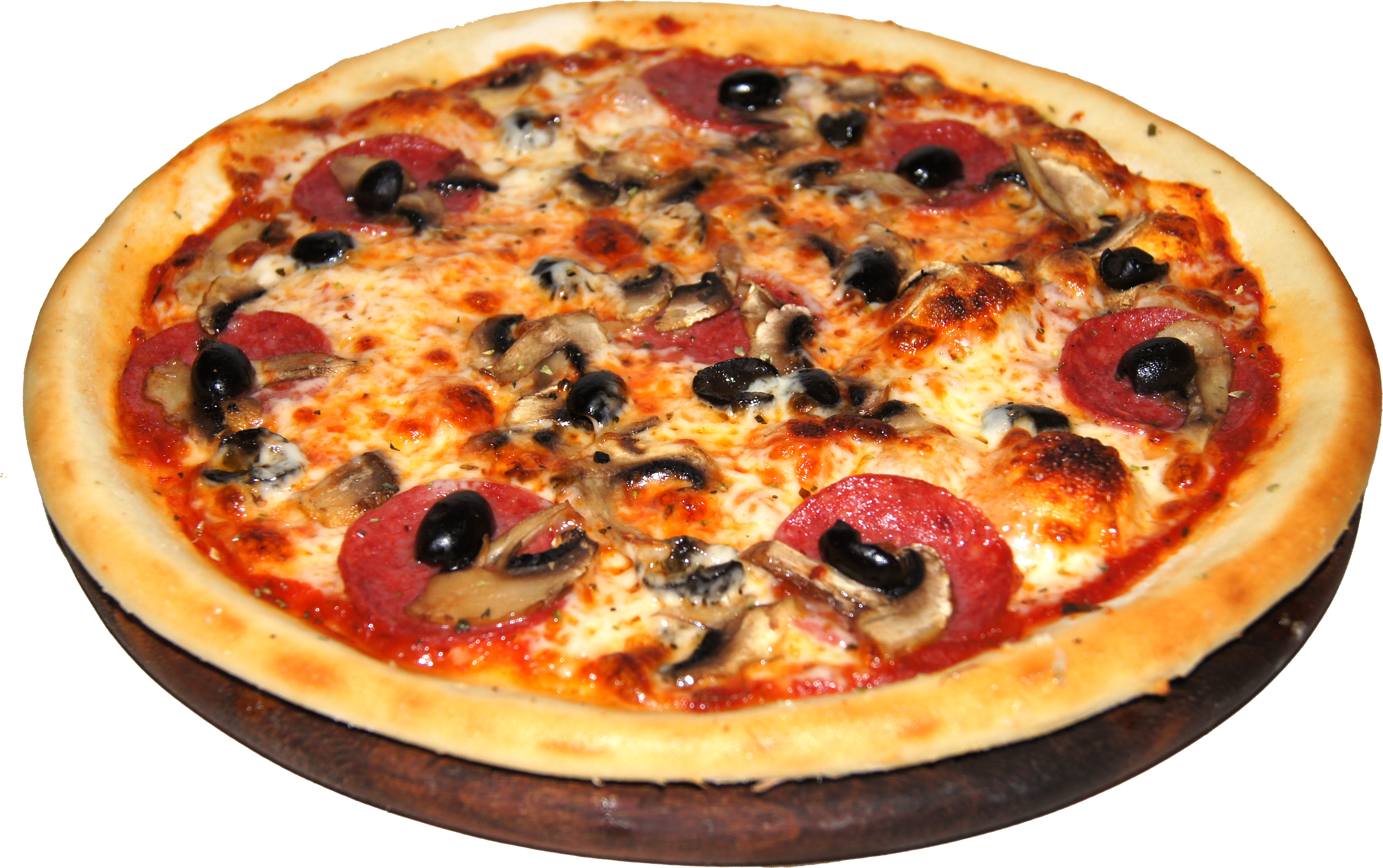 Olive mixed pizza transparent image