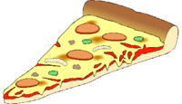 one slice cartoon pizza png