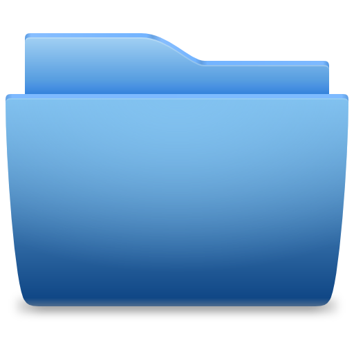 Places Folder Blue Icon image #13461