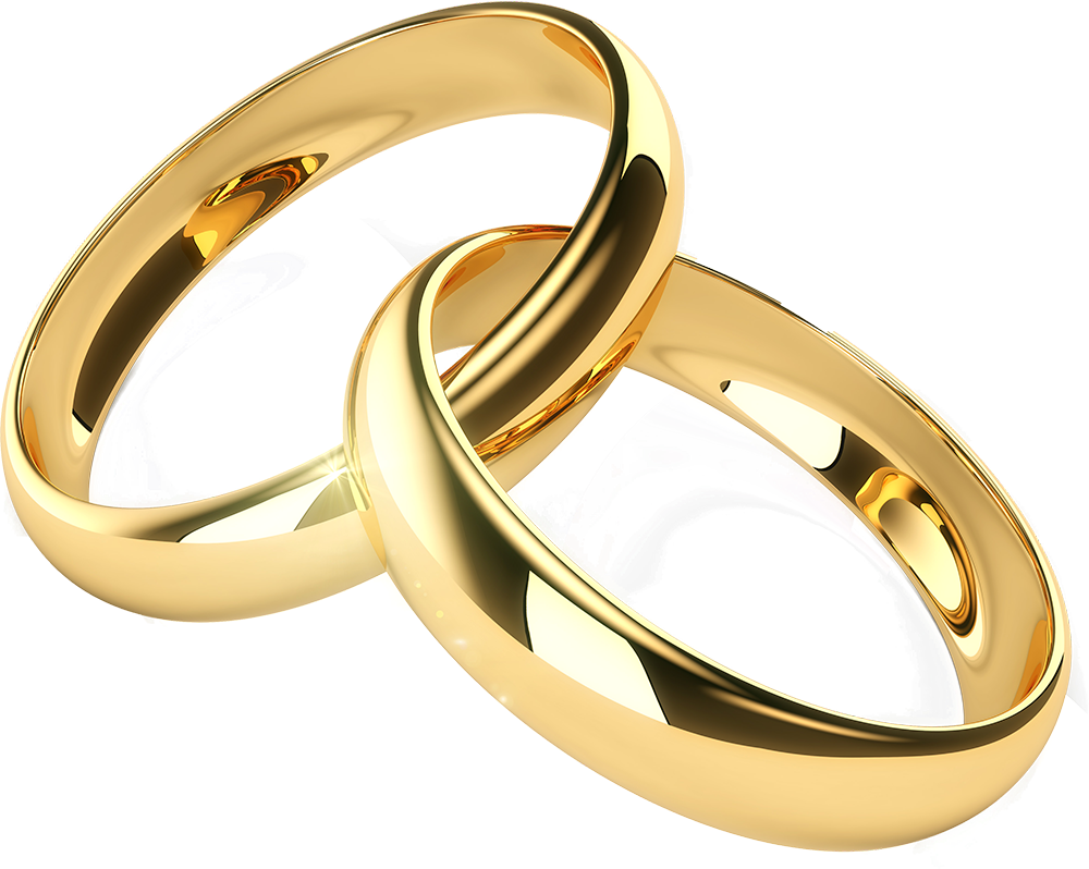 Plain Wedding rings png